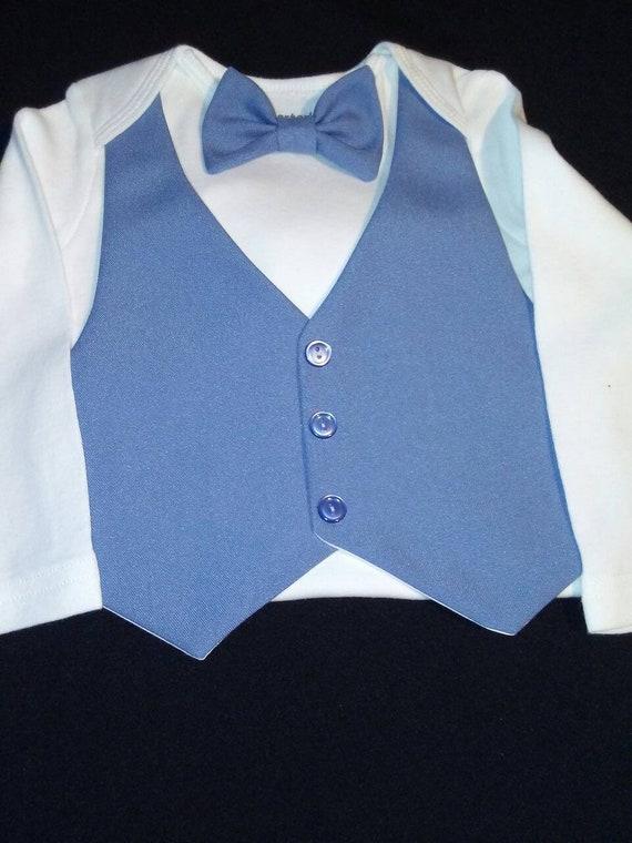 Baby Boy Outfit Wedding Suit Tan Vest/&Pants Cater/'s Bodysuit AquaORAnyColorBowTie Newbornto24 mo.Baptism Wedding Birthday Photos Ring Bearer