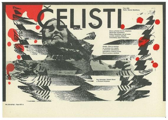 the Extra-Terrestrial Czech movie poster Original Vintage Cinema Art by Zdenek Ziegler Steven Spielberg 80/'s E.T
