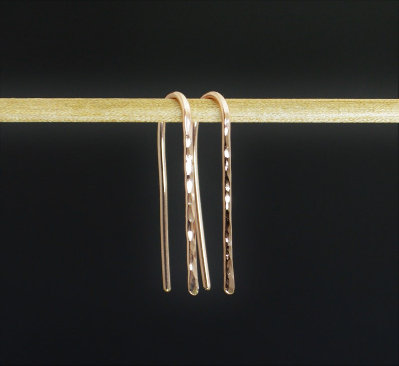 Rose Gold Open Hoops Rose Gold Filled Rose Gold Earrings image 0