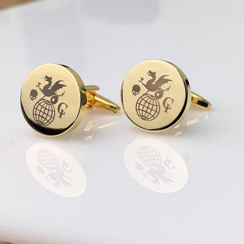 Company Logo Gift Logo Cuff Links Custom Cufflinks for Him Custom Engraved Logo Personalized CuffLinks Wedding Gift for Husband